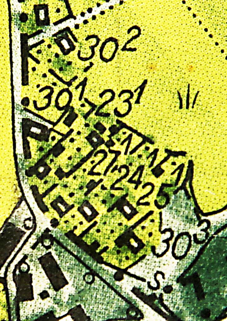 Rikets Allmänna Kartverk ekonomiska karta 1952, blad J133–11H9j54